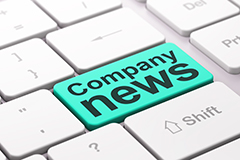 News concept: Company News on computer keyboard background