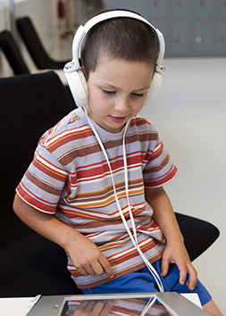 Child With Headphones