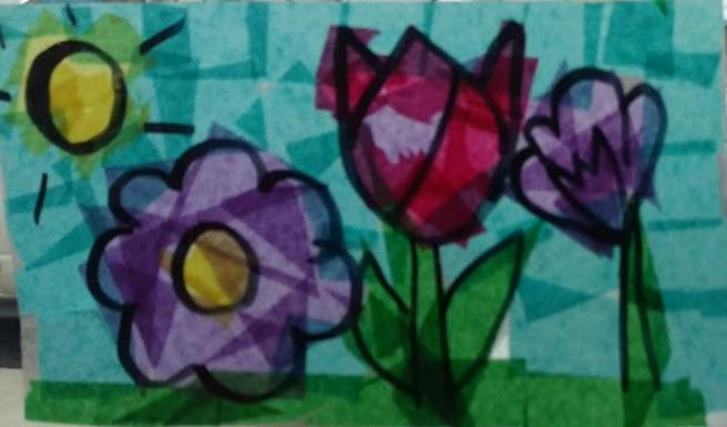Contact Paper Stained Glass Craft Positive Steps Therapy