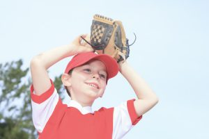 42177222 - a nice child happy to play baseball