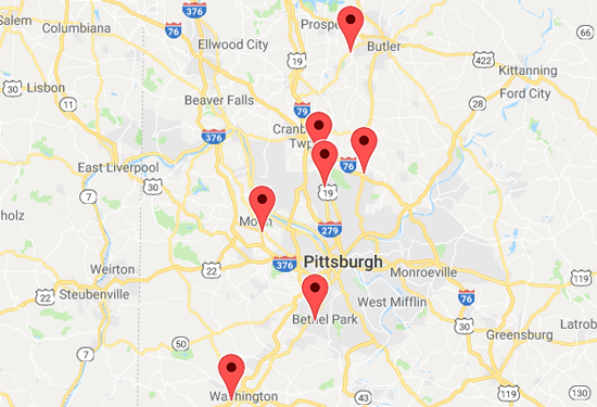 Locations - Positive Steps Therapy on map of vestaburg pa, map of webster pa, map of fawn township pa, map of sewickley heights pa, map of wilburton pa, map of treesdale pa, map of south side pittsburgh pa, map of moon pa, map of braddock hills pa, map of ruffs dale pa, map of armagh pa, map of north park pa, map of findlay township pa, map of pgh pa, map of upper st. clair pa, map of russellton pa, map of west alexander pa, map of western pa, map of mt. lebanon pa, map of butler pa,